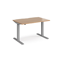 Beech height adjustable desk