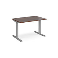 Walnut height adjustable desk