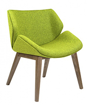 Elite Cascara MB fully upholstered chair, wooden legs