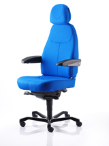 KAB Associate chair in blue fabric