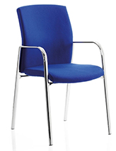 Ocee Design Class CL4 Mid Back 4-legged visitor chair