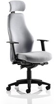 Ocee Design Flexion HB operator chair with headrest