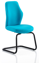 Ocee Design Flexion Visitor cantilever chair